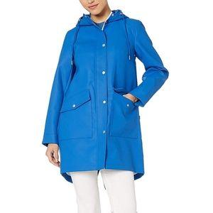 NWT Levi's Rubberized Blue Trench Rain Coat